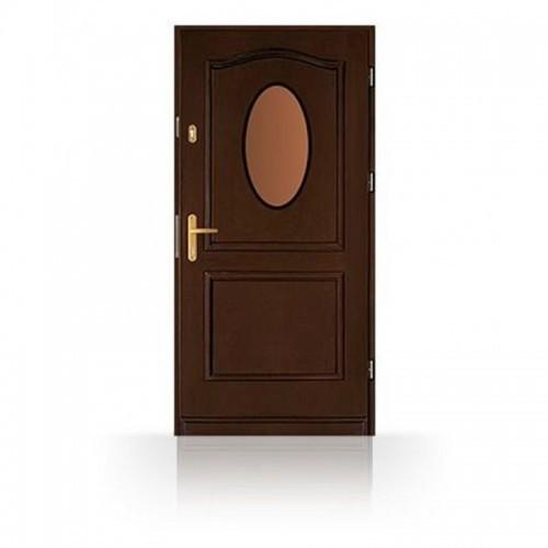 Vchodové dveře CB-5PV, vejčité prosklení