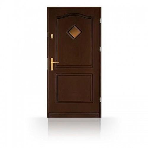 Vchodové dveře CB-5PK, prosklení kosočtverec