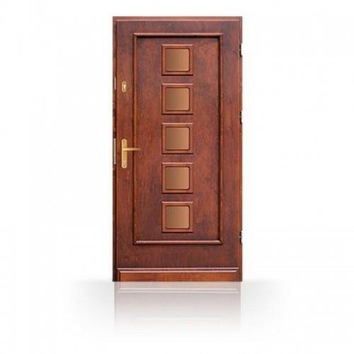 Vchodové dřevěné dveře prosklené CB-10b