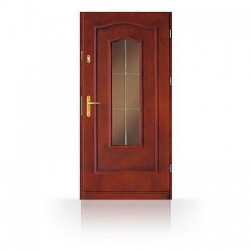 Vchodové dřevěné dveře prosklené CB-12