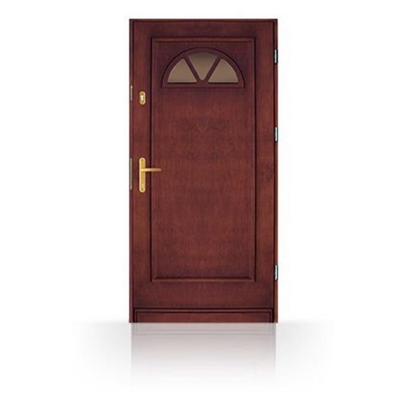 """Vchodové dřevěné dveře včetně zárubní CB-14, ,,80, 90,100"""" cm"""