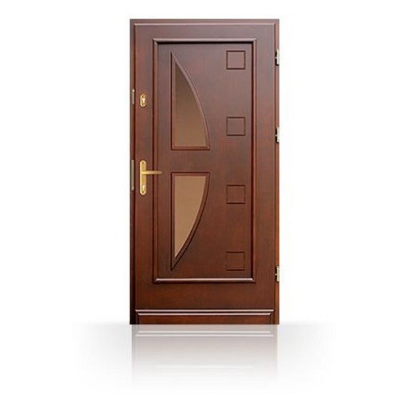 Vchodové dřevěné prosklené dveře CB-15b