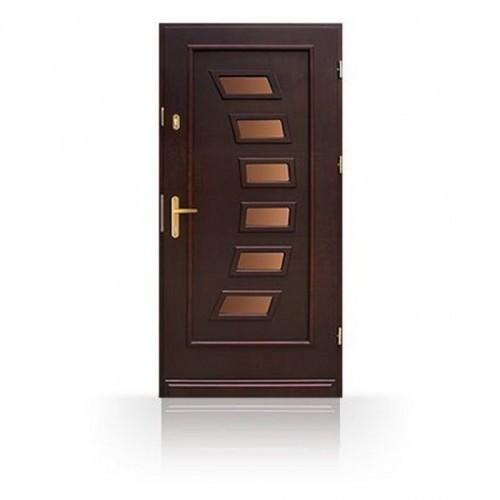 Dřevěné vchodové dveře moderní design CB-24c