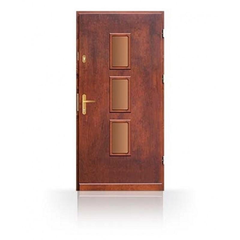 Vchodové dveře z masivu CN7B- dřevěné zárubně a kování v ceně