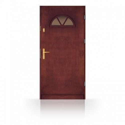 Masivní vchodové dřevěné dveře CN14