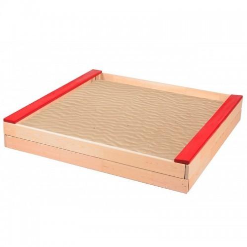 Dětské dřevěné pískoviště- červené