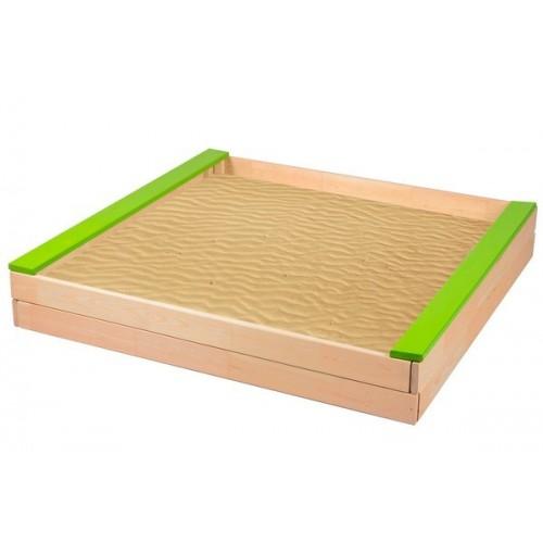 Dětské dřevěné pískoviště-zelené