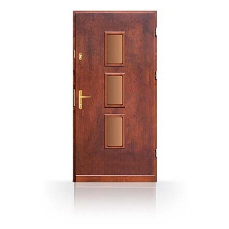Vchodové dveře z masivu CN7B90- dřevěné zárubně a kování v ceně