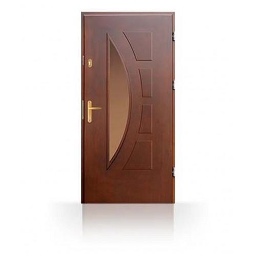 Vchodové masivní dveře CN23C- dřevěné zárubně a kování v ceně