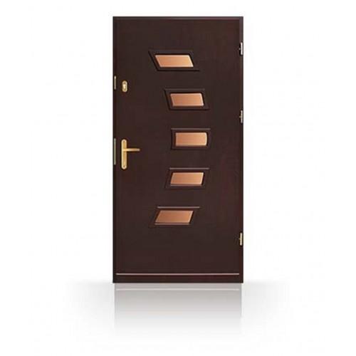 Dřevěné vchodové dveře se zárubní CN24b