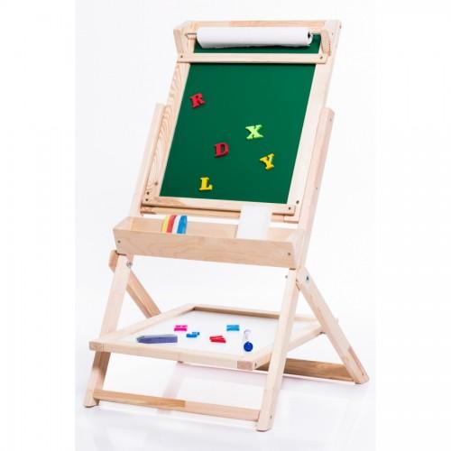 Dětská dřevěná otáčecí tabule OL-Z zelená, příslušenství zdarma