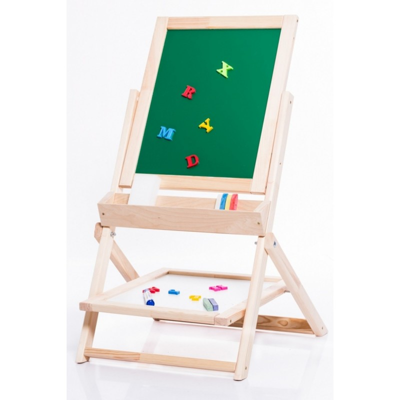Dětská dřevěná tabule OL-OZ otáecí, křídovo-magnetická