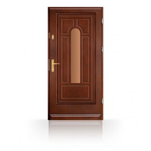 Vchodové dřevěné masivní dveře CB82
