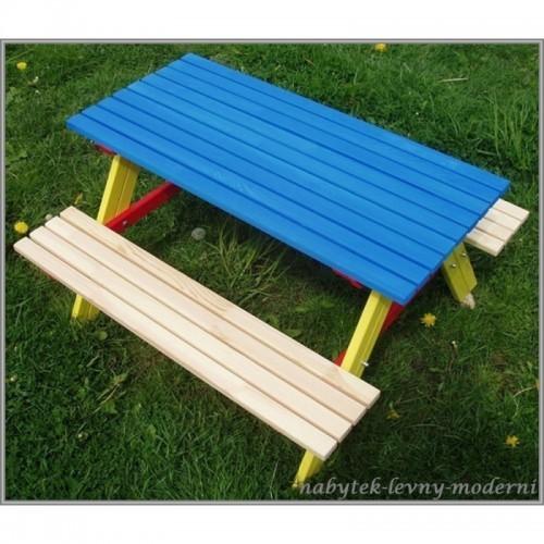 Dětský zahradní set Piknik -modrý stůl