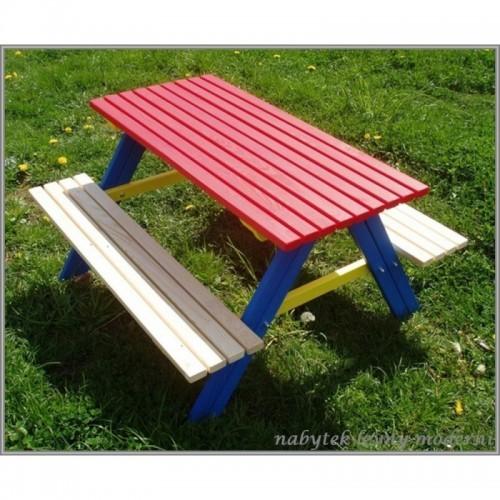 Dětský zahradní set Piknik -červený stůl