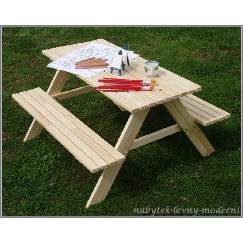 Dětský zahradní dřevěný set Piknik
