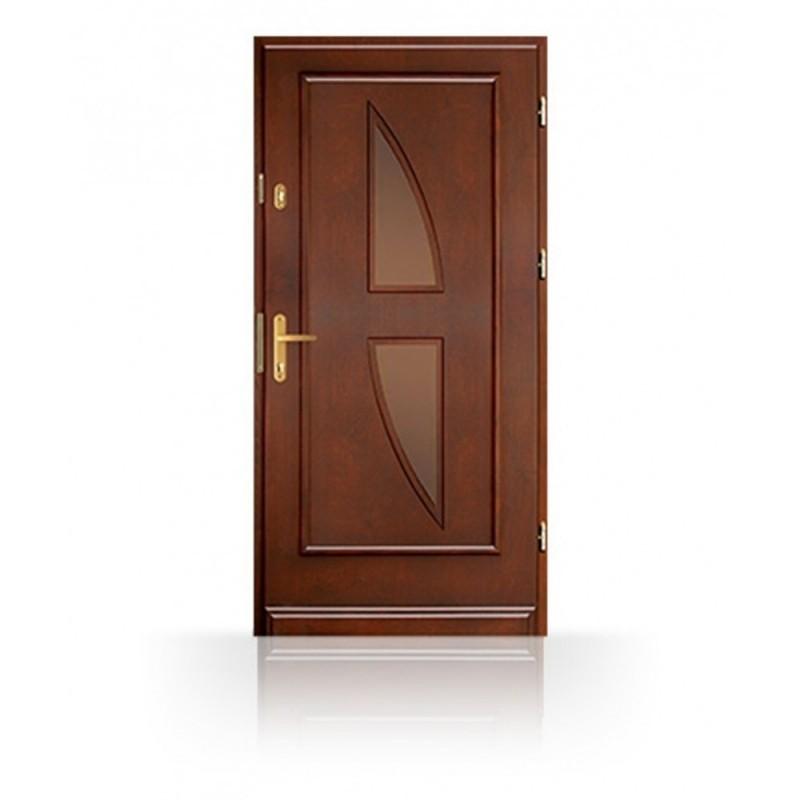 Dřevěné vchodové dveře CB74-A