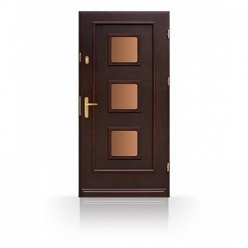 Vchodové masivní dřevěné dveře CB50-A