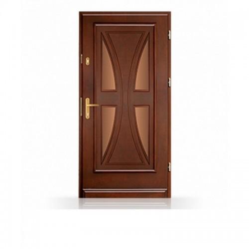 Vchodové masivní dřevěné dveře CB-16a