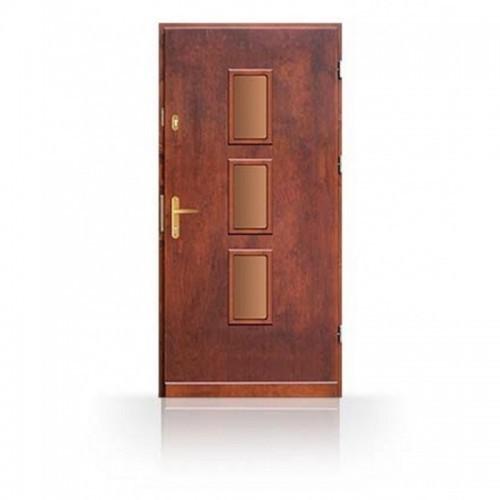 Vchodové dveře z masivu CN7B80- dřevěné zárubně a kování v ceně