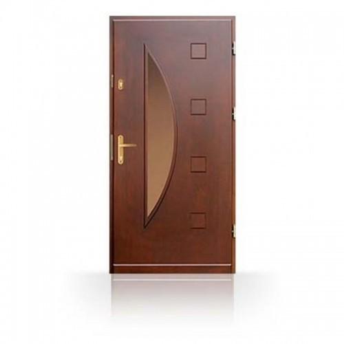 Vchodové masivní dveře CN23B- dřevěné zárubně a kování v ceně