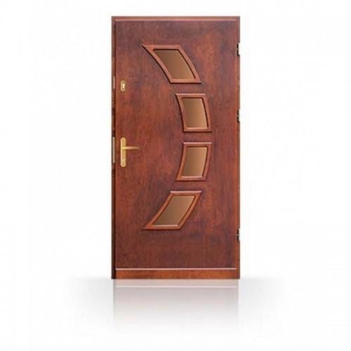 Dřevěné vchodové dveře se zárubní CN24a