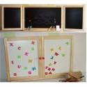 Dětská skládací tabule na stěnu SARON-1 2v1