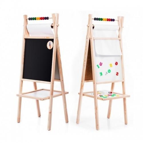 Dětská tabule křídová/magnetická tabule IVA 5 v 1, 120 cm